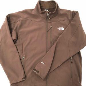 North Face Brown Softshell Apex Jacket sz XL